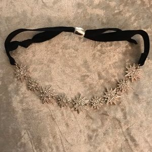 Adjustable Velvet and Rhinestone Choker/Headband